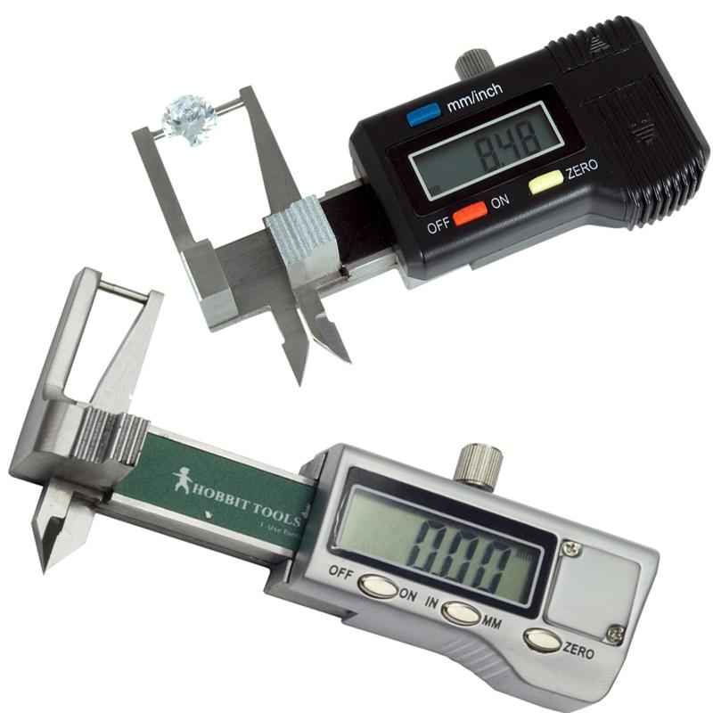 Pocket Gauge for Coin Diamond or Stone Caliper Plastic Millimeter Tool