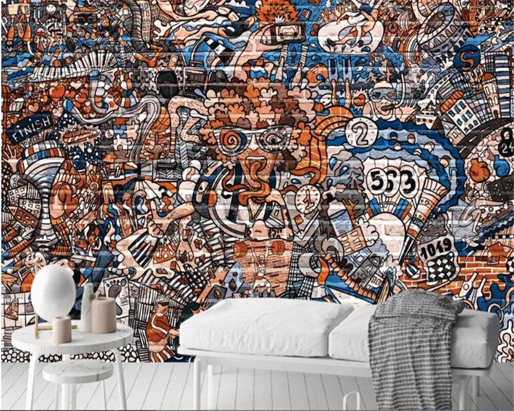 Beibehang Papier peint pour murs 3 d Papier peint mural 3d mode creative graffiti Papier peint Papier peint décoration de la maison vinyle mur