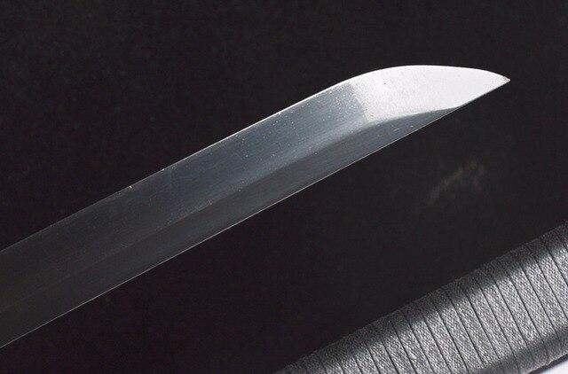 New Practical Genuine Japanese Samurai Ninja Swords High Carbon Steel Straight Blade Full Black Handmade Sharp Double Knives 5