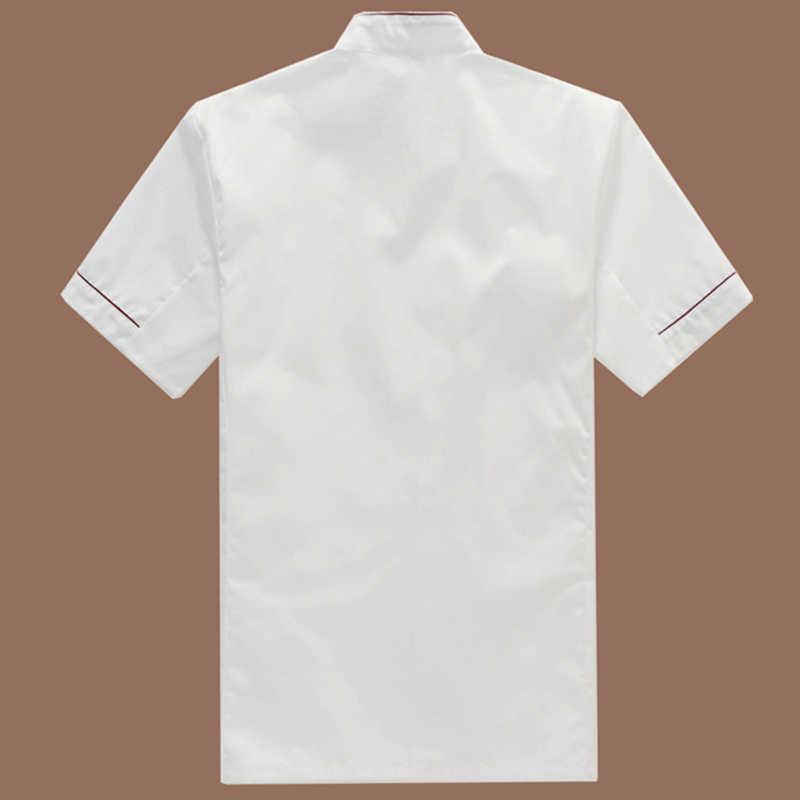 Sommer Gebäck Küchenchef Kleidung Unisex Kurzarm Küche Jacke Weiß Küche Chefuniform Einstellbare Hut für Männer und Frauen