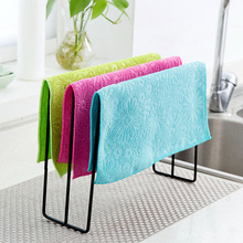 Household Kitchen Glass Window Cleaning Cloth Microfiber  Rag Absorbent Washing Bamboo Fiber Home Tableware cloth
