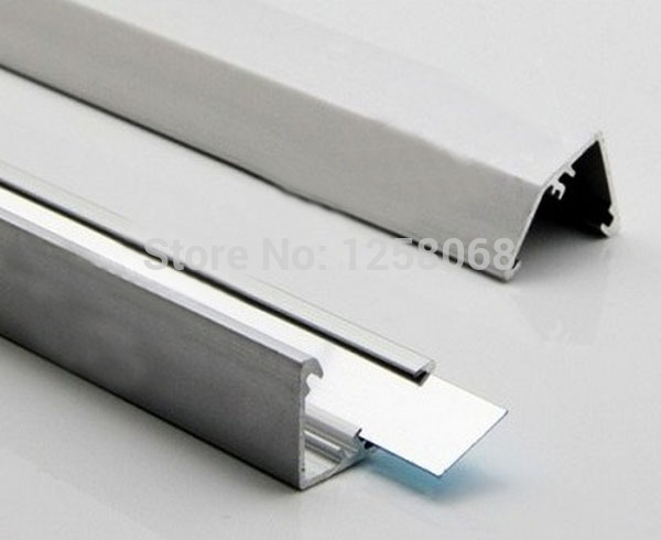 Fanlive 10pcs/Lot 72 Leds 1 M/pc 12V Bright White Aluminum Hard Led Strip Bar Light SMD 5630 With Mirror Reflector