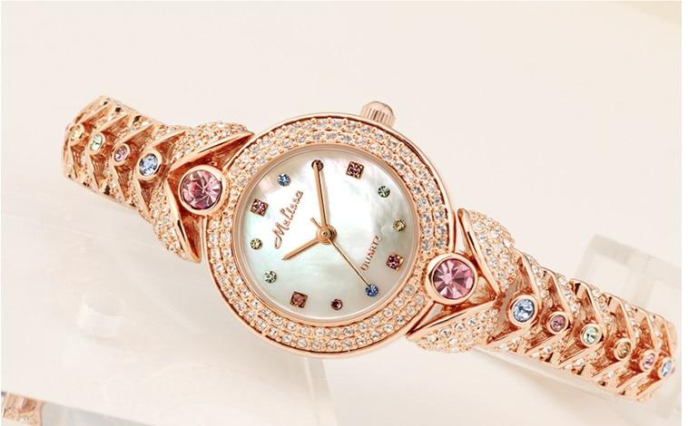 Здесь продается  Elegant MELISSA Bracelet Watch Noble Fashion Palace Designer Crystals Dress Wrist watch Quartz Relogio Shell Montre Femme MG523  Часы