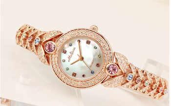 Elegant MELISSA Bracelet Watch Noble Fashion Palace Designer Crystals Dress Wrist watch Quartz Relogio Shell Montre Femme MG523 - DISCOUNT ITEM  36 OFF Watches