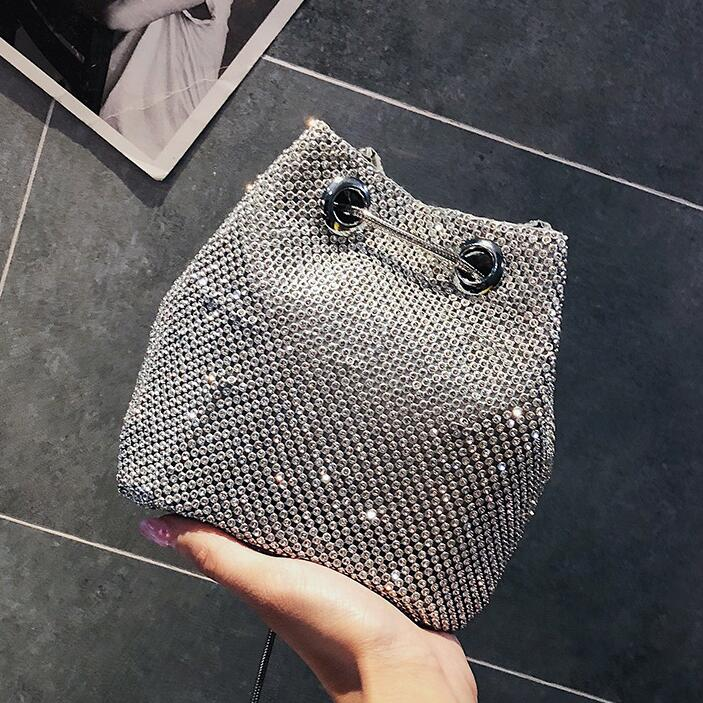Women\'S Designer Handbag Handbag Quality PU Leather Diamond Bucket Bag Chain Shoulder Messenger Bags