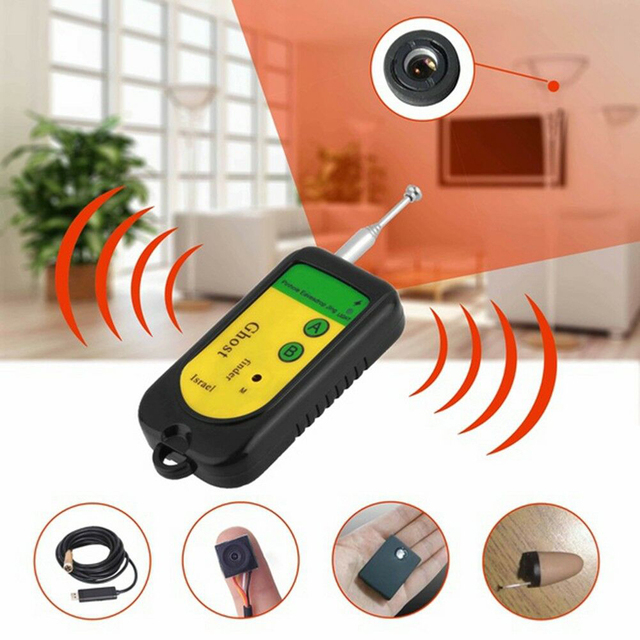 100 2400 MHZ GSM Alarm Wireless Signal RF Detector Tracer Mini Camera Finder Ghost Sensor  Device Radio Frequency Check 1pcs