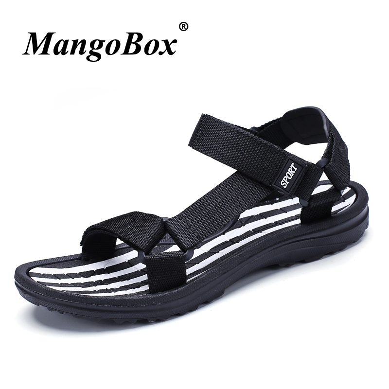 Summer Shoes for Male Black Blue Man Outdoor Sandals Lightweight Men Casual Shoes Breathable Rubber Bottom Sandals Flat