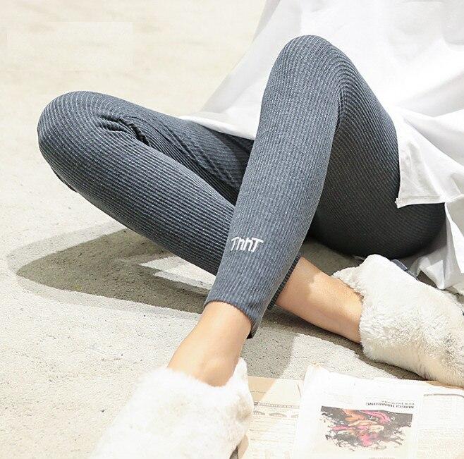 Girls Leggings Cotton Cat Korean Fashion Clothing Japanese Style Pants High Elastic Waist ankle length Legging ouc351 in Leggings from Women 39 s Clothing