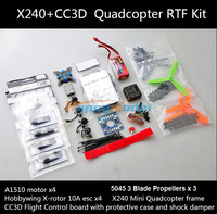 X240 Mini FPV Fiberglass Quadcopter 4 Axis Frame 240 with CC3D Controller Motor ESC Propeller RTF Combo Kit Better Than QAV 250
