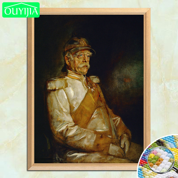 Otto Von Bismarck German Great Prime Minister 5D DIY Diamond Painting Full Square Diamond Embroidery Rhinestone Mosaic Picture image