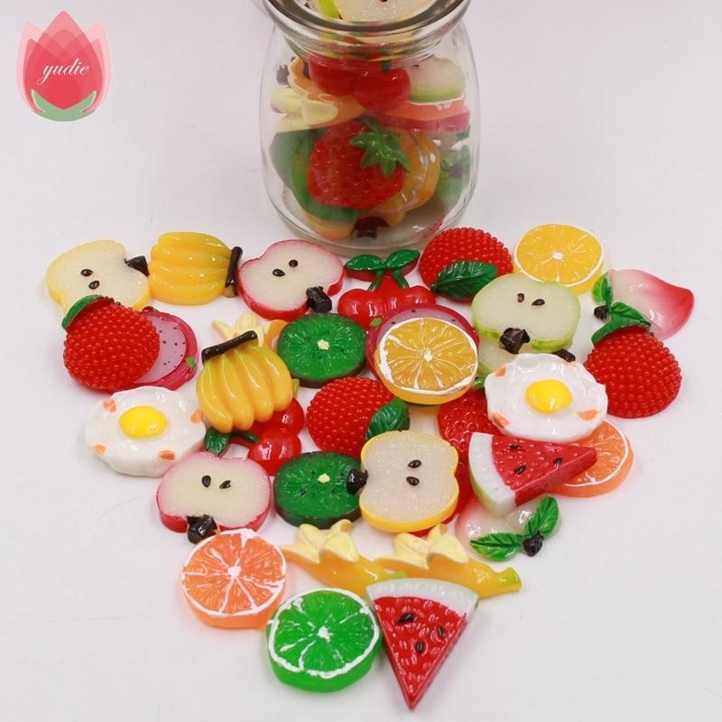 10 unids Plástico 3 cm Rodajas de Frutas Artificiales Para El Banquete de Boda H