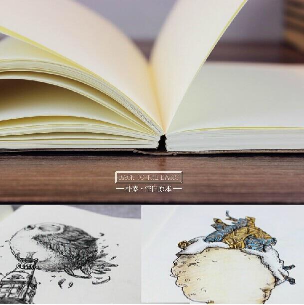 Vintage Leere Seiten Sketch Retro Notebook Starke Schule Kunst Liefert Notiz Travel Journal Planer Tagebuch Skizzenbuch Kinder Notebooks & Schreibblöcke