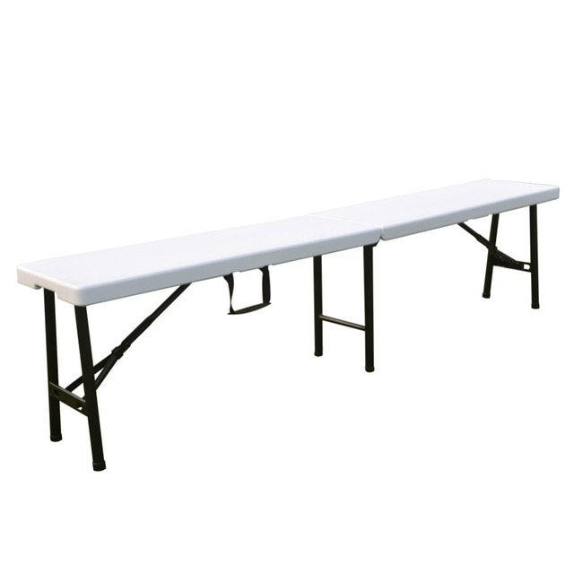 Alextend Fold-In-Half Bench White