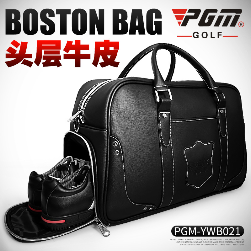 48x30CM PGM Real Leather Golf Clothing Bag Men's Women Handbag Built-in Shoes Bag Golf Bag A4725 golf bag handbag golf mini bag clothing bag men women golf pouch free shipping