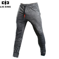 LIEXING Summer Running Pants Long Men Sports Pants Quick Dry Gym Jogging Football Sweatpants Athletic Fitness