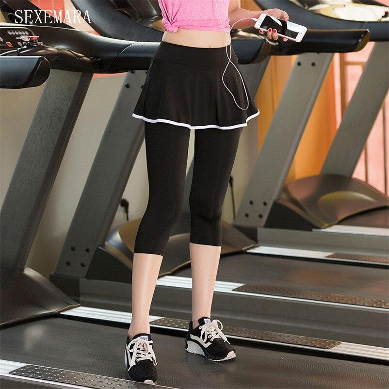 GroßZüGig Frauen Sport Skort Fitness Rock Lauf Yoga Jogging 7 Hosen Frauen Tennis Skort Shorts Rock 1 Pc Skorts