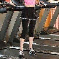 Women's sport skort fitness skirt running yoga jogging 7 pants women tennis skort shorts skirt 1pc