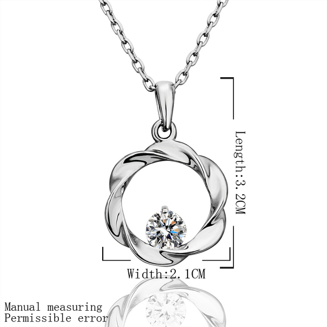 N526 18KGP Romantic Austria Crystal Jewelry 18K Gold Plated Necklace Nickel Free Rhinestone Crystal Pendant For Gift