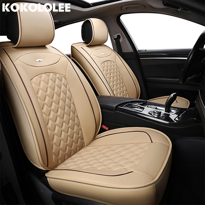 [KOKOLOLEE] Cuoio Car Seat Covers Per mercedes w203 w211 w210 w163 w124 w203 w202 w204 w245 w213 ml320 seggiolini auto proteggere