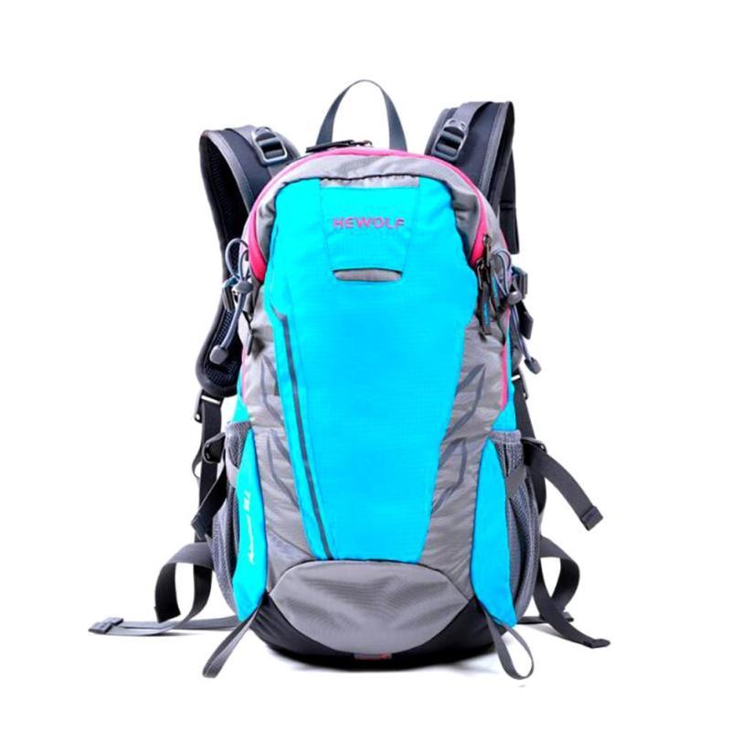 Men Women Travel Trekking Bags Lightweight Mountaineering Knapsack Backpack Nylon Waterproof Casual Riding Bicycle Rucksack Z0