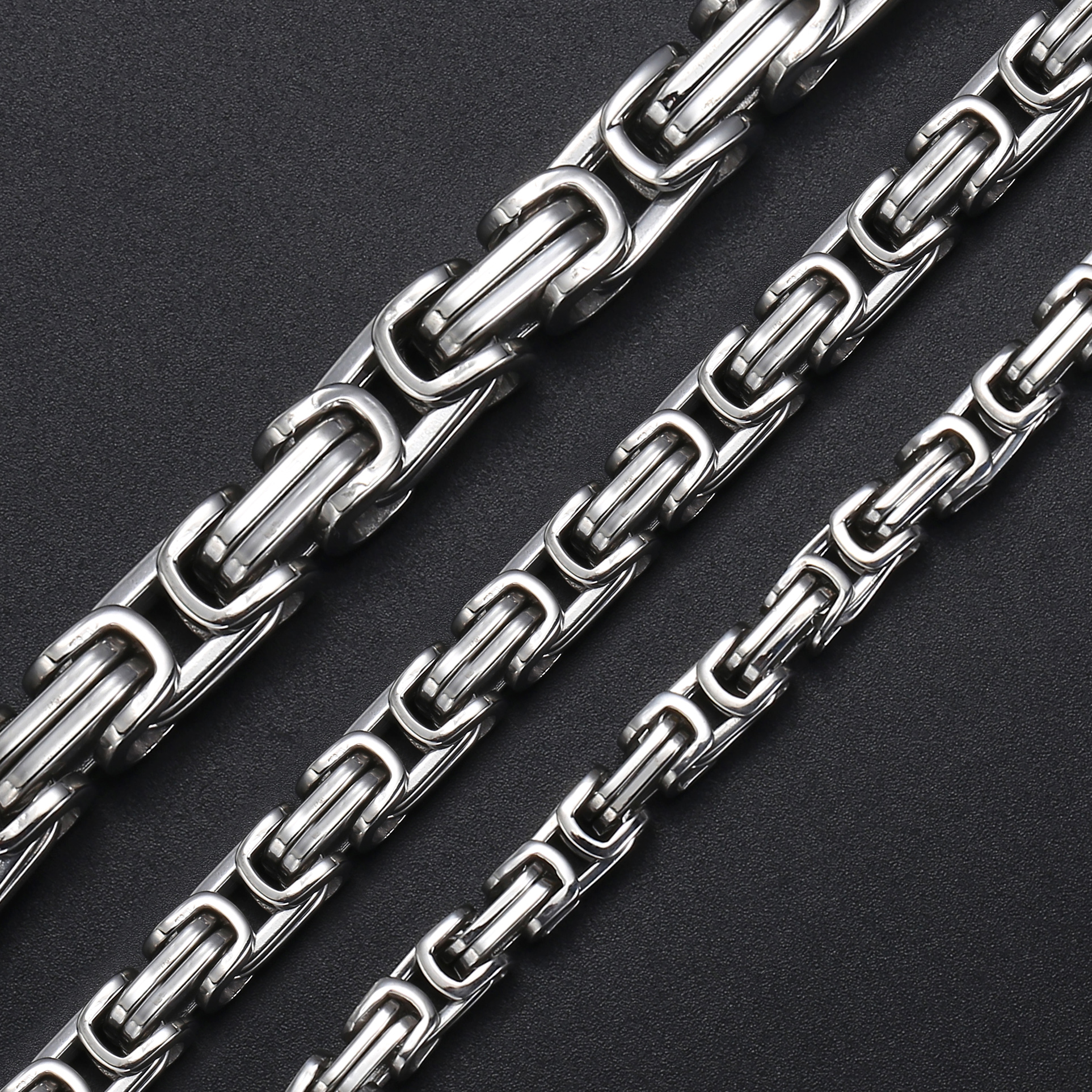 Stainless Steel Byzantine Chain Necklace for Men Silver Tone Jewelry Fashion Mens Necklaces Chains 5/7mm Davieslee New KNN21Stainless Steel Byzantine Chain Necklace for Men Silver Tone Jewelry Fashion Mens Necklaces Chains 5/7mm Davieslee New KNN21