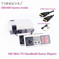 Retro Rodzina Klasyczny Handheld Grze Gracza Wbudowany W 500/600 Gry Wideo HD Podwójny Kontroli Wyjście HDMI Mini TV Konsola Do Gier Gamepad