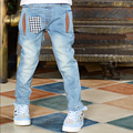 high-quality 3-7T new 2016 fashion  boys jeans spring/autumn trousers children denim pants kids clothes hot sale