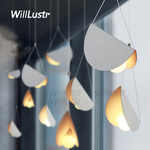 Image 1 - Metal Origami Pendant Lamp Flying Folded Paper Art Iron Suspension Light Cafe Dinning Room Restaurant Hotel Bar Hanging Lighting