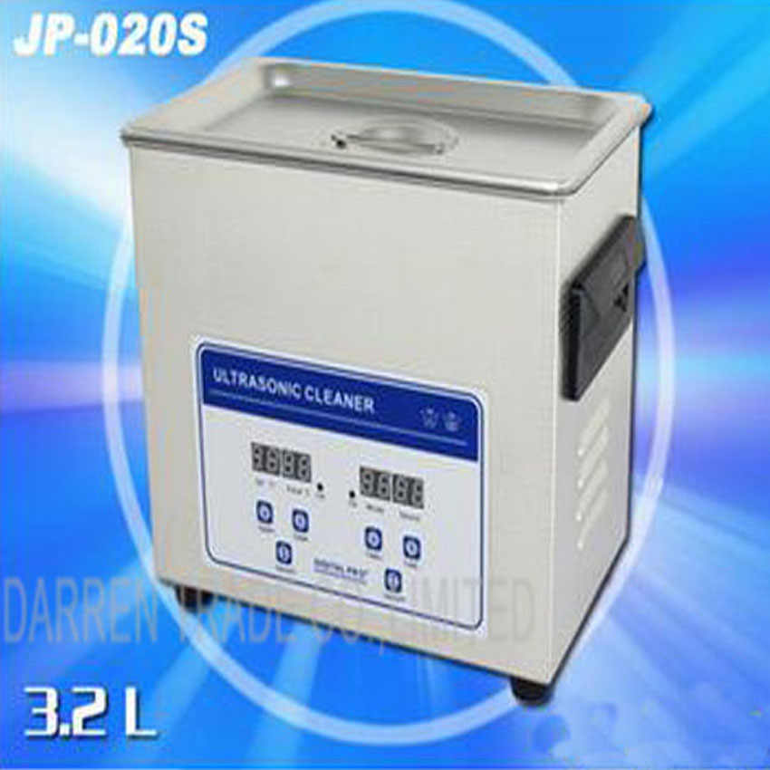 1PC hot sell Globe digital heater&timer Ultrasonic cleaner JP-020S 3.2L bath for circuit boards,motor  washing machine