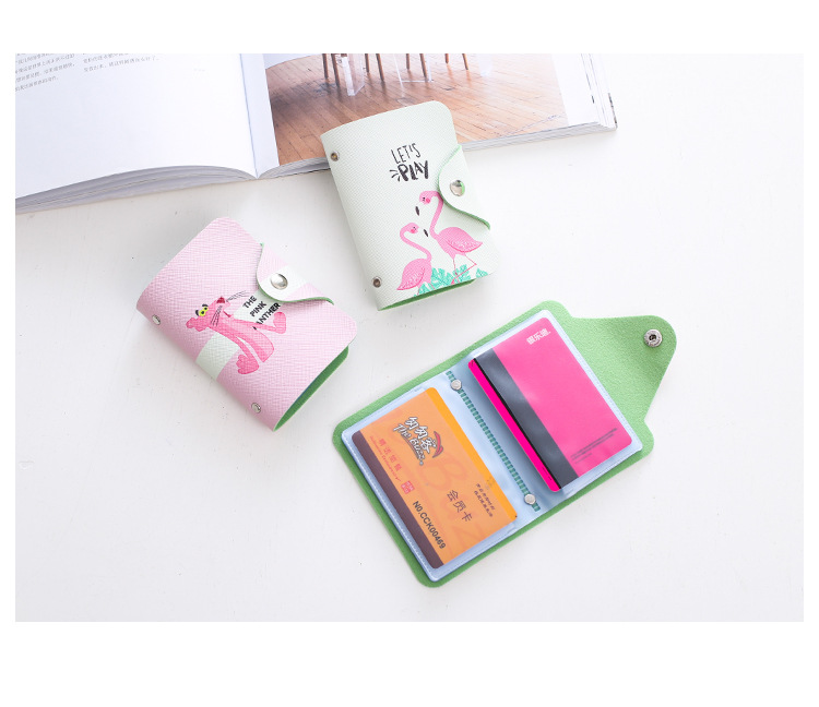 HTB16ydLnxSYBuNjSsphq6zGvVXa5 - Women Leather Card Case Credit Card Holder Student Cute Cartoon ID Cards Wallet Passport Business Card Holder Book Protector