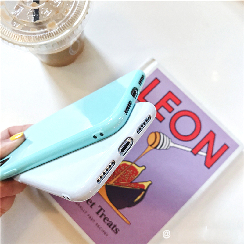 Macaron candy color silicon Case For iPhone 6 6s 7 8 Plus X XS MAX XR Soft TPU Case Candy Color Back Cover Gift tempered film in Half wrapped Cases from Cellphones Telecommunications