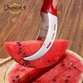 L'hopan melancia fatiador de frutas cortador de aço inox e facilmente obter um pedaço de melão Cantaloupe corer ferramenta