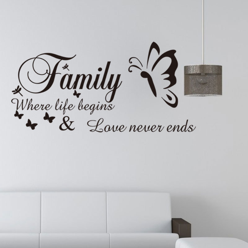Download Aliexpress.com : Buy Family Where Life Begins Love Never ...