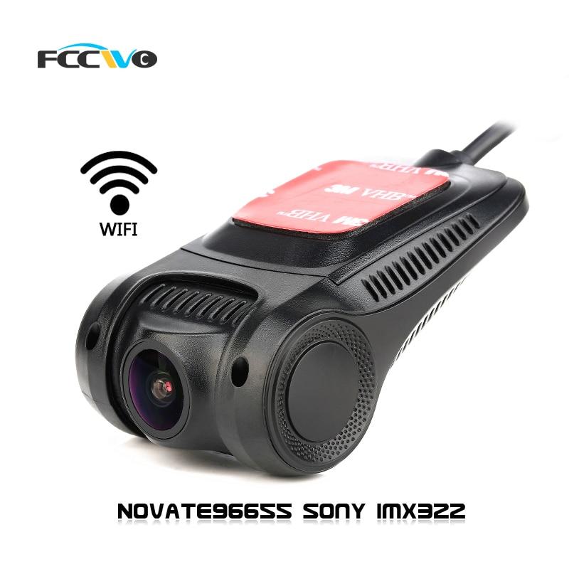 Fccwo R3 Видеорегистраторы для автомобилей DVRs регистраторы Novatek96655 Sony IMX322 Wi-Fi 1080 P регистратор видео Регистраторы Авто Камера dashcam Даш Камера