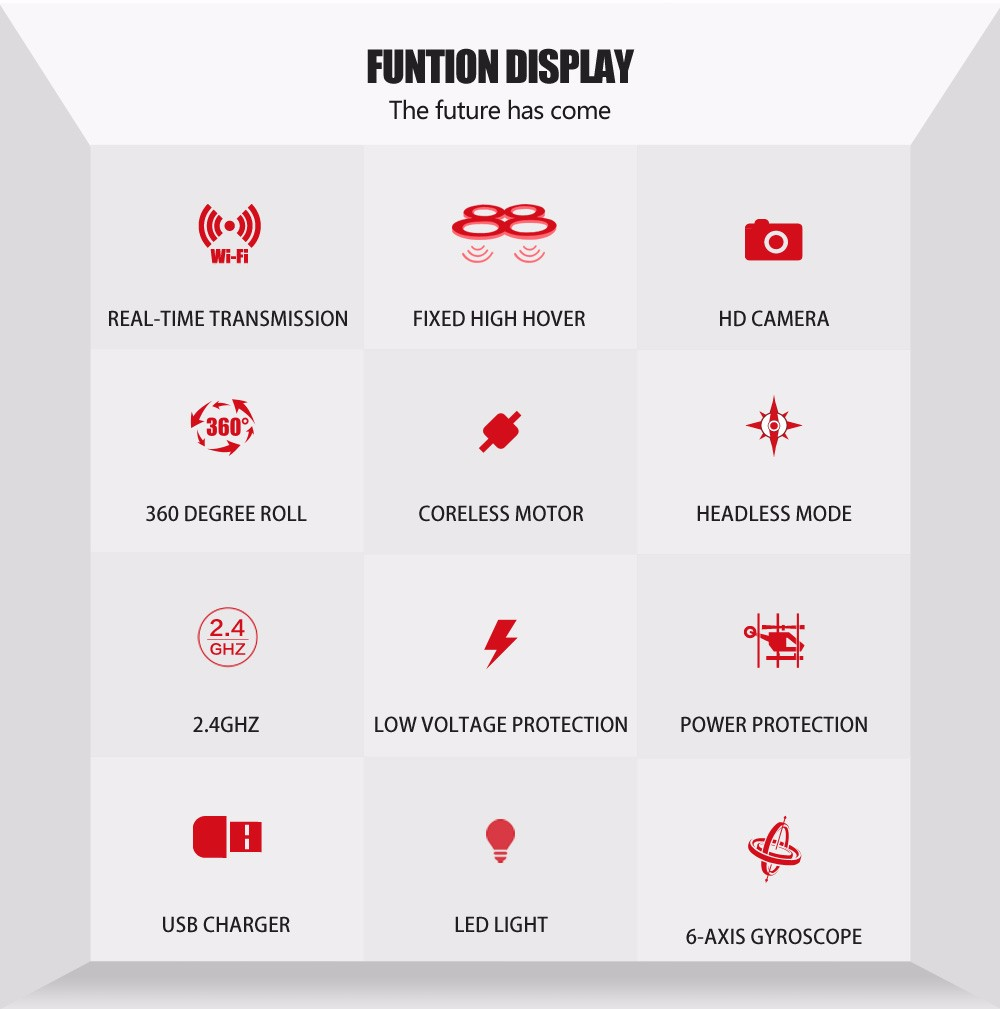 SYMA Official X8HW FPV RC Drone with WiFi HD Camera Real-time Sharing Drones Helicopter Quadcopter Dron with Hovering Function 5