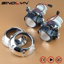 Car Styling 2.5 inches Mini 2.0 D2S HID Bixenon Projector Lens Headlight W/ GTI-R Shrouds Lenses Retrofit H4,Use D2S D2H Bulbs