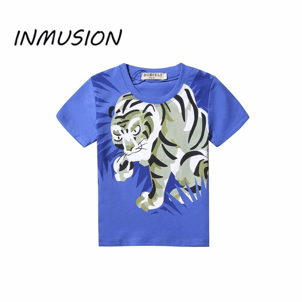 Shirt design boy 2016 - Inmusion 2016 Tiger Brand Design 2 7 Year Baby Boys Summer T Shirts High Quality