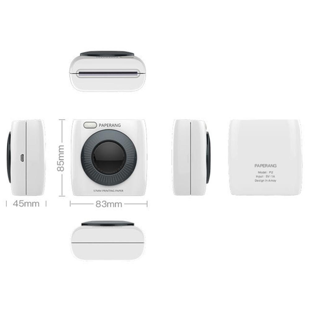 PAPERANG P2 Bluetooth 4,0 портативный термальный фото телефон беспроводное соединение мини принтер - 5