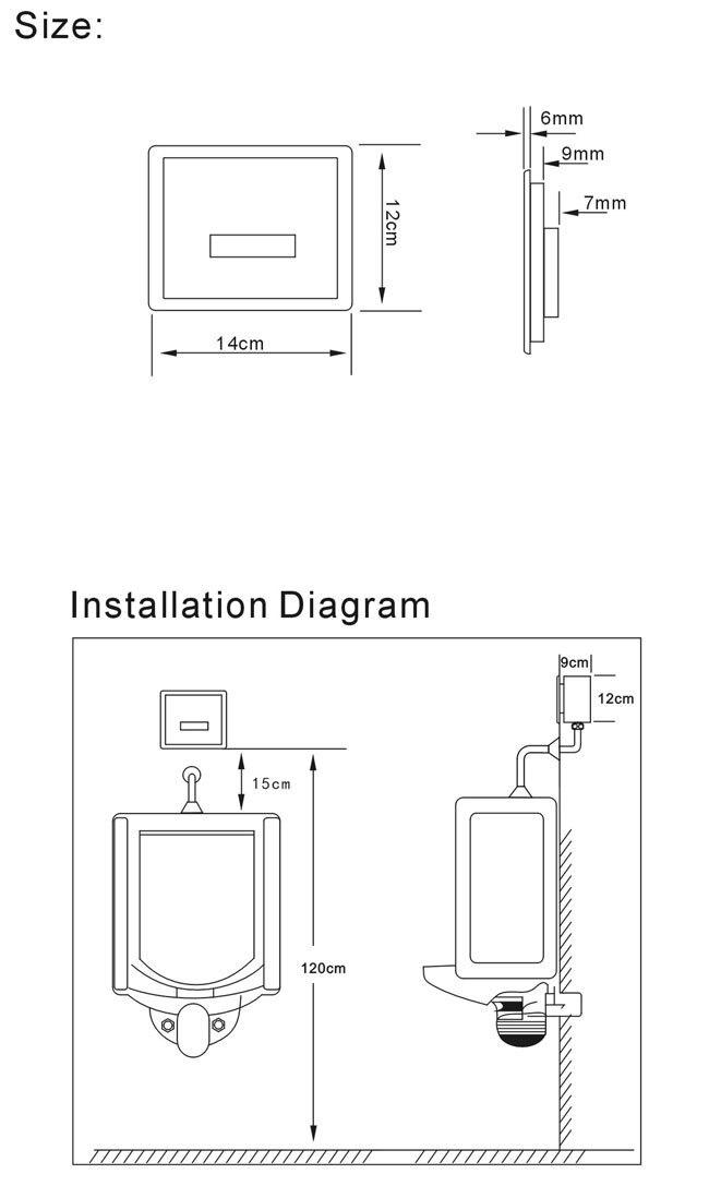 US 93 0 Battery Urinal Flush Valve Save Water Flushometer Infrated Flusher Sensor Urinal Urinal Automatic Flush Valve In Flush Valves From Home