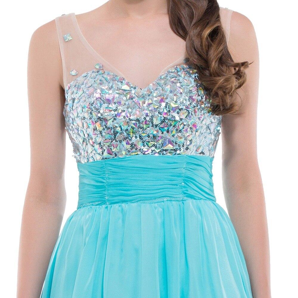 Grace Karin Short Prom Dress 2017 Elegant Empire Blue White Double V ...