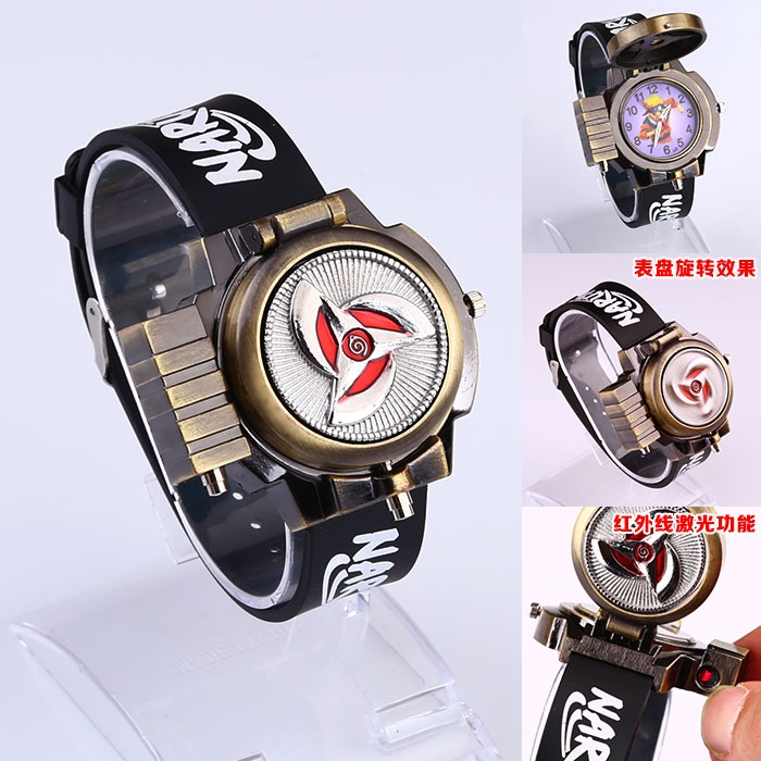quartz pendant naruto men bronze women watches casual watch cartoon fob pednant japan pocket