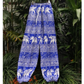 Baroque Gothic Elephant Thailand Indian Elastic Waist Harem Wide Leg Pants Bloomers Pant Summer Trouser Pantalon Pantalones
