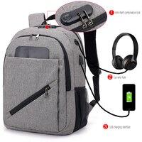 women's fashion Password anti theft backpack USB Charging Men laptop bag Teenager Big Capacity Leisure Travel school bag