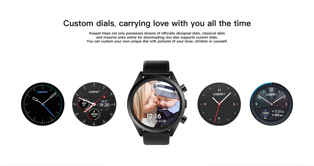 MT6739 Kospet Hope 4G Android7.1.1 3GB 32GB 1.39 Business Smart Watch with AMOLED WIFI GPS GLONASS 8.0MP for Men and Women 20