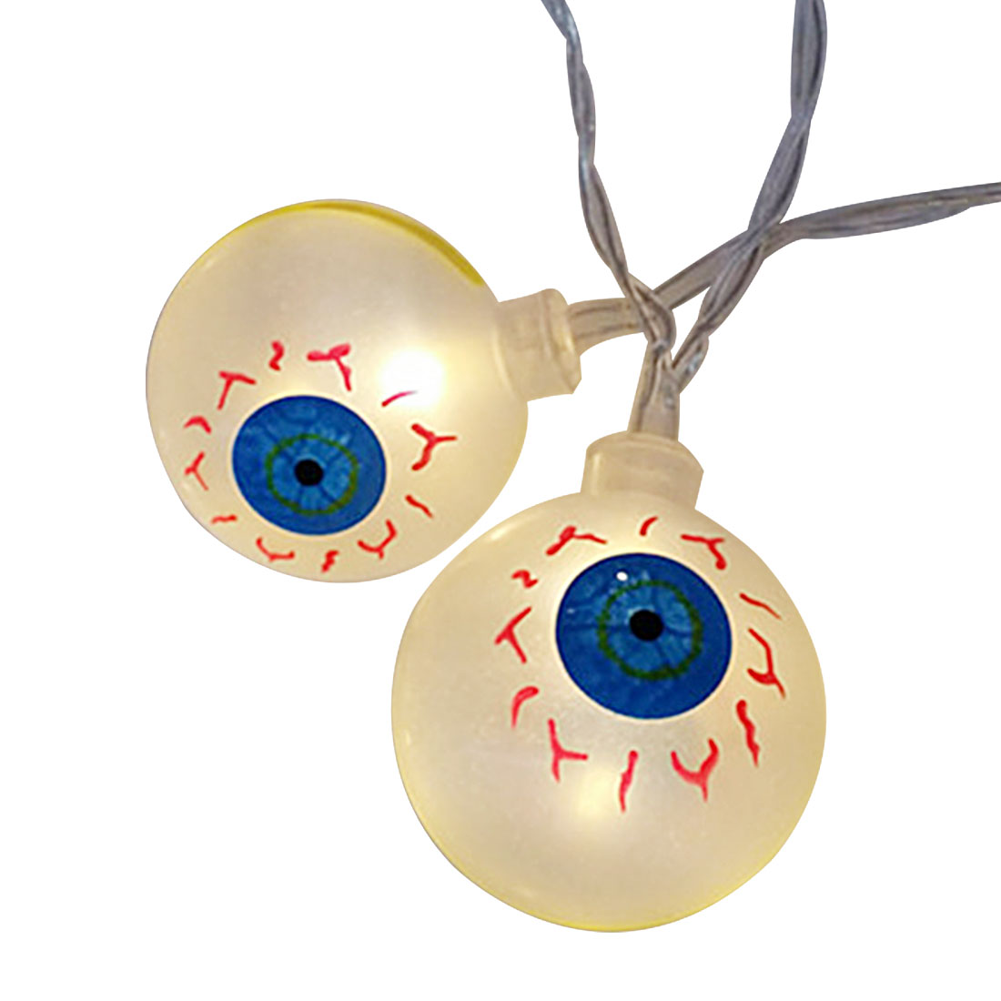 New Best 10LED 1.2M Eyeballs Halloween Decor LED String Lights Lanterns Lamp for DIY Home Bar Outdoor Party Supplies