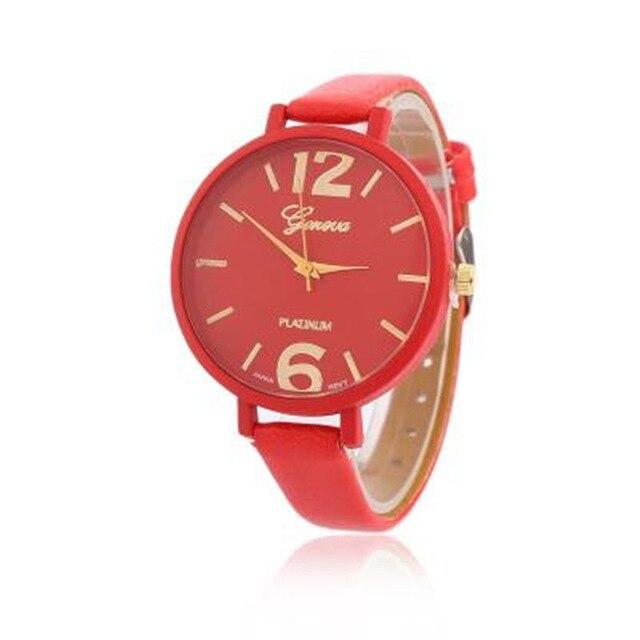 2018 New Fashion Brand Watches Women Luxury Watches Geneva Women Faux Leather Analog Quartz Wrist Watches Masculino Watches
