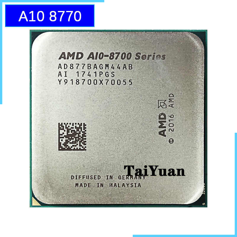 AMD A10-Series PRO A10-8770 A10 8770 3.5 GHz Quad-Core procesor CPU AD877BAGM44AB gniazdo AM4