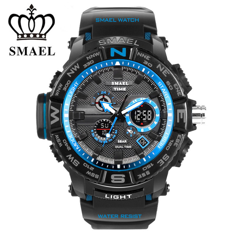 Brand Digital Sport Watch Men Quartz Led Analog Dual Display WristWatch Military Waterproof Relogio Masculino Hodinky Male Clock hoska hd030b children quartz digital watch