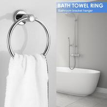 Нержавеющая сталь круглый стиль настенный кольцо для полотенец Держатель Вешалка ванная комната