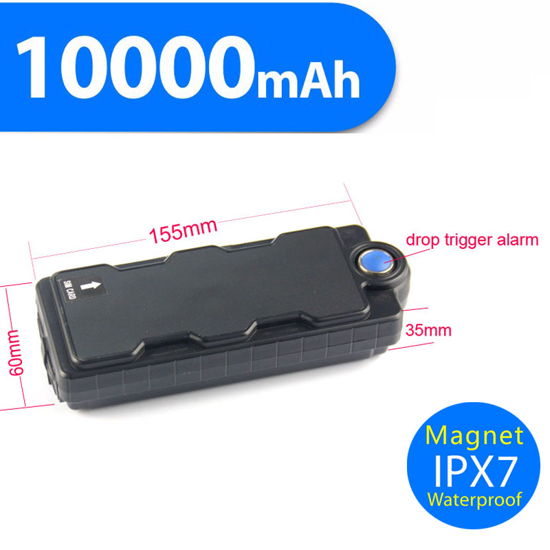 Super Magnetic Battery Mah Power Bank Global Real Time Auto Car Gps Tracker Vehicle Tracking System